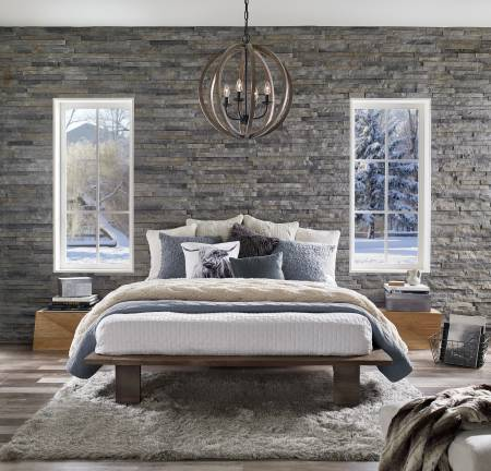 Decorative stone panels for your bedroom