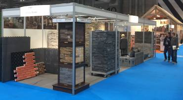 The Century Stone exhibition stand in all it's natural stone glory