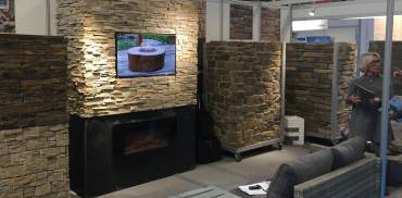 Stone cladding products on display