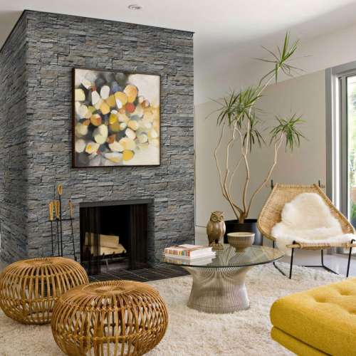 Interior Fireplace DecoStone Andes range in Grey