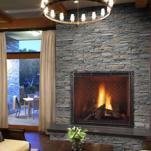Interior Fireplace DecoStone Andes range in Grey