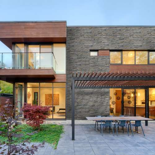 Building Exterior DecoStone Andes range in Gray