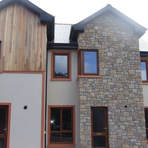Contemporary home stone cladding
