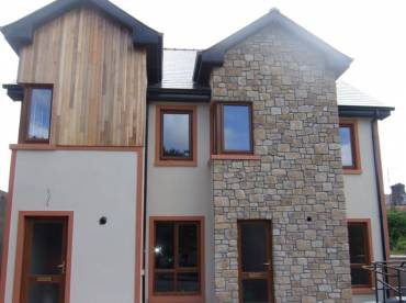 Contemporary home stone cladding