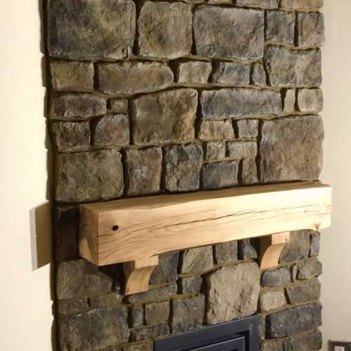 Limestone Grey-Blue fireplace surround