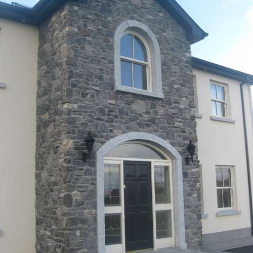 House frontage stone cladding
