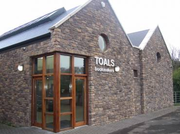Commercial property stone cladding