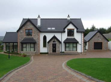 New build house stone cladding