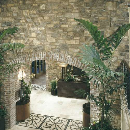 House interior walls stone cladding