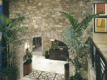 House interior walls stone cladding