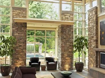 Contemporary living room Meseta cladding