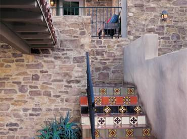 Stairway stone cladding using Veneto