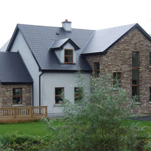 Residential property with Cliffstone stone cladding