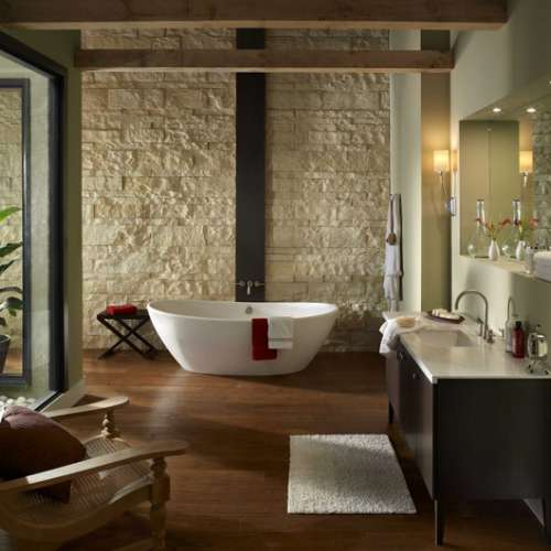 Luxury bathroom stone cladding