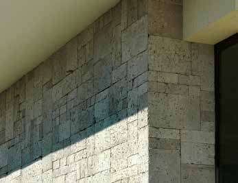 Exterior wall stone cladding cornering