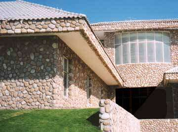 Exterior roof detail using Mathios Stone corners