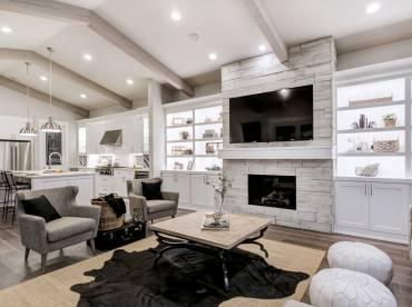 Doverwood interior fireplace