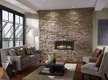Feature Wall Internal Eldorado Stacked Stone range in Nantucket