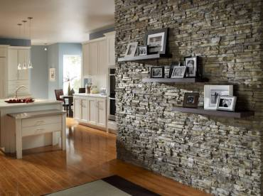 Feature Wall Internal Eldorado Stacked Stone range in Nantucket