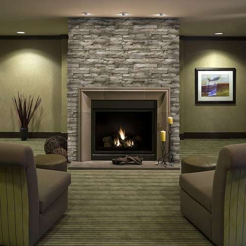 Interior Fireplace DecoStone Vivid range in Olive