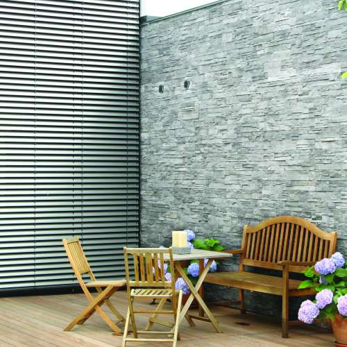 Feature Wall - External DecoStone Ardennes range in Gray